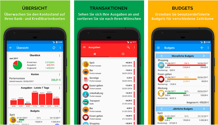 Haushaltsbuch App: Fast Budget